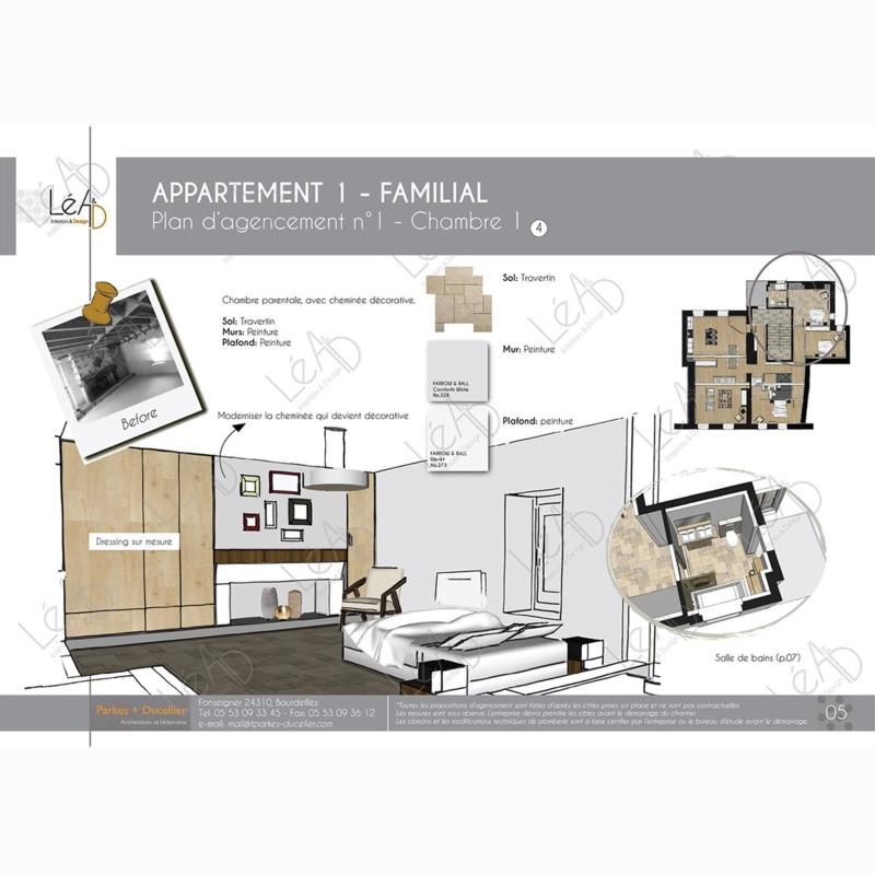 Léa Architecture Décoration Intérieur Bergerac_Agencement appartement Familial pour location - Chambre parentale
