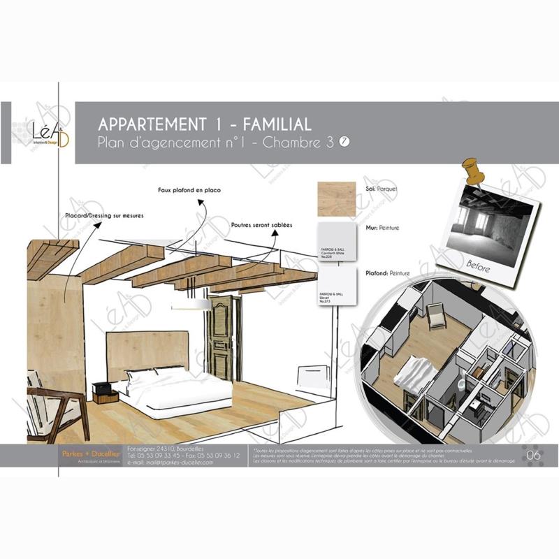 Léa Architecture Décoration Intérieur Bergerac_Agencement appartement Familial pour location - Chambre