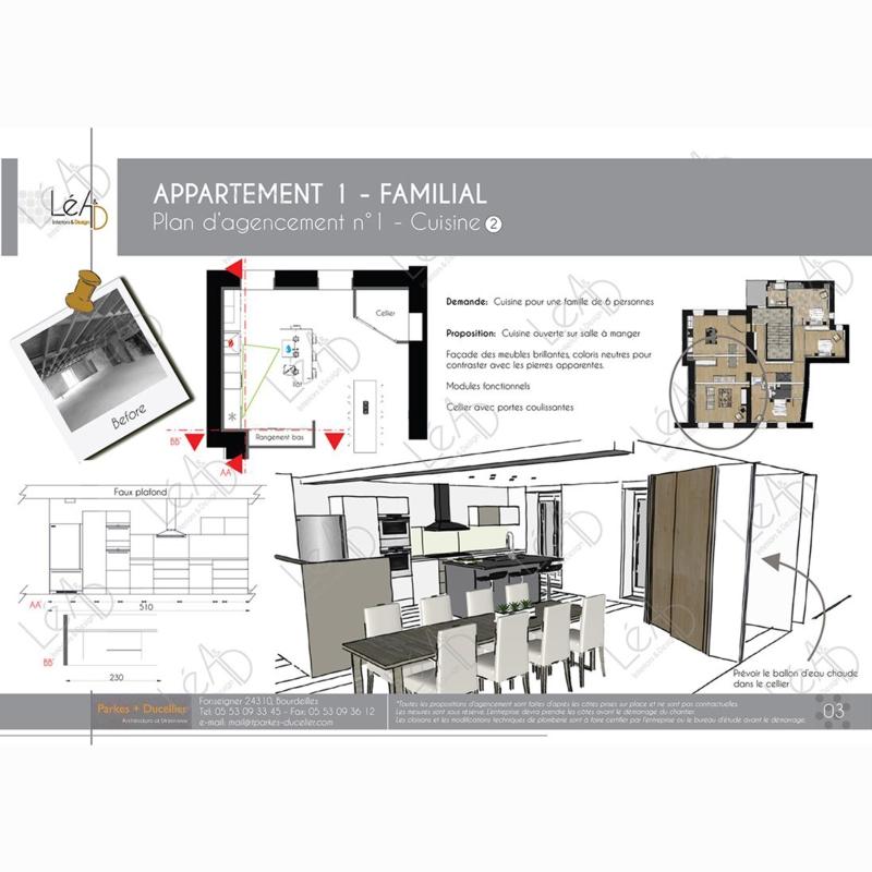 Léa Architecture Décoration Intérieur Bergerac_Agencement appartement Familial pour location - Cuisine