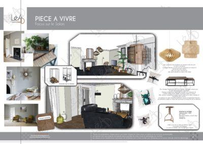 Léa Architecture Décoration Intérieur Bergerac_Coaching Déco - Pièce à vivre - Salon