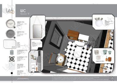 Léa Architecture Décoration Intérieur Bergerac_Coaching Déco - WC - version B