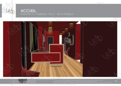 Léa Architecture Décoration Intérieur Bergerac_Espaces professionnels - Accueil - Salle attente bordeaux - Esquisse projet