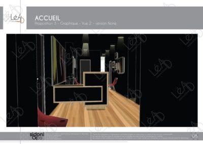 Léa Architecture Décoration Intérieur Bergerac_Espaces professionnels - Accueil - Salle attente noire - Esquisse projet