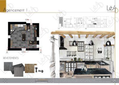 Léa Architecture Décoration Intérieur Bergerac_Relooking Cuisine - Agencement 1