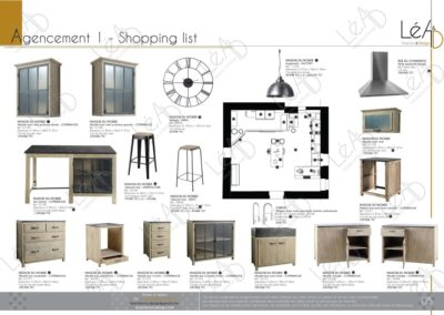 Léa Architecture Décoration Intérieur Bergerac_Relooking Cuisine - Agencement 1 - Shopping list