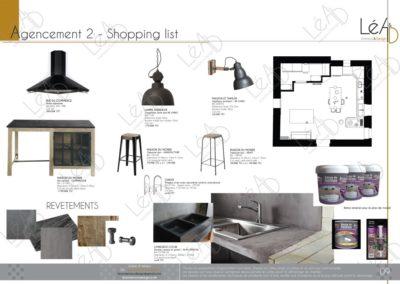 Léa Architecture Décoration Intérieur Bergerac_Relooking Cuisine - Agencement 2 - Shopping list