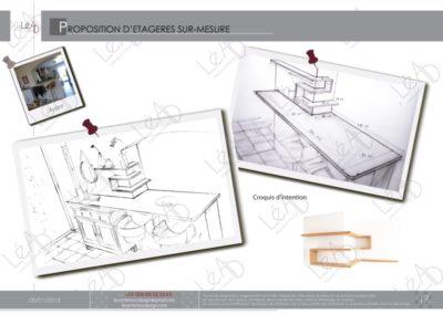 Léa Architecture Décoration Intérieur Bergerac_Decoration-Interieur - Salon - Rose - Etagères Zig Zag