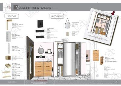 Léa Architecture Décoration Intérieur Bergerac_Decoration-Interieur - Salon - Rose - placard