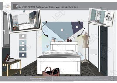Léa Architecture Décoration Intérieur Bergerac_Coaching Déco - Planche Déco - Chambre-SDB-Dressing - vue 1