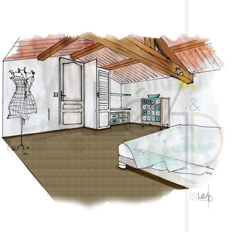 Lea-Interiors-Design-Bergerac_Accompagnement-shopping-Chambre-amis-combles