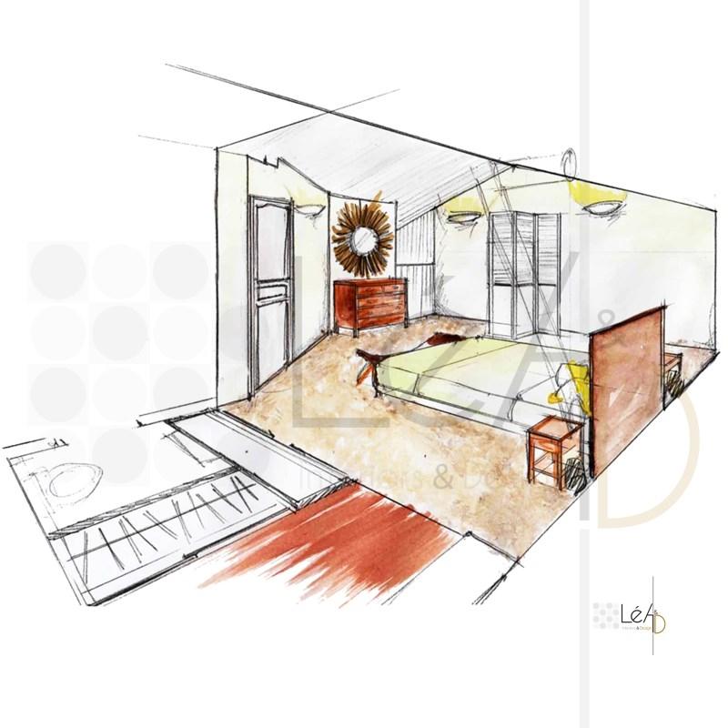 Lea-Interiors-Design-Bergerac_Accompagnement-shopping-Chambre-parentale-exotique