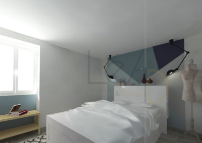 Lea-Interiors-Design-Bergerac_Amenagement-&-Decoration-interieur-3D-Chambre-blanc-bleu-acier-graphique-1