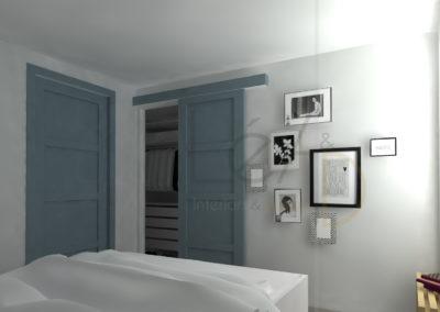 Lea-Interiors-Design-Bergerac_Amenagement-&-Decoration-interieur-3D-Chambre-blanc-bleu-acier-graphique-2
