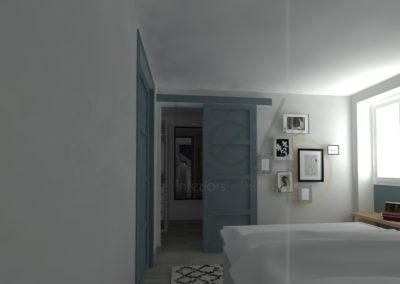 Lea-Interiors-Design-Bergerac_Amenagement-&-Decoration-interieur-3D-Chambre-blanc-bleu-acier-graphique-3