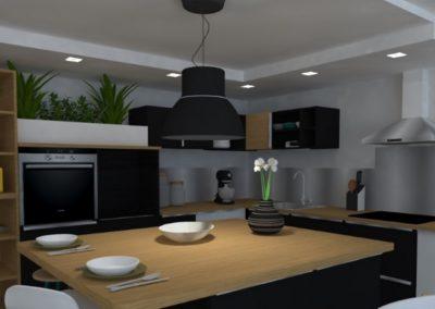 Lea-Interiors-Design-Bergerac_Amenagement-&-Decoration-interieur-3D-Cuisine-IKEA-noir-chene-miel