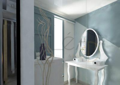 Lea-Interiors-Design-Bergerac_Amenagement-&-Decoration-interieur-3D-Dressing-blanc-bleu-acier-graphique-2