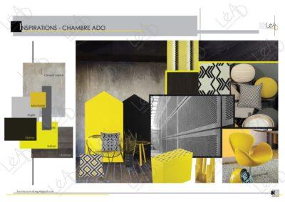 Lea-Interiors-Design-Bergerac_Amenagement-&-Decoration-Interieur-Appart-tout-en-longueur-Chambre-ado-Inspirations-jaune-noir-gris