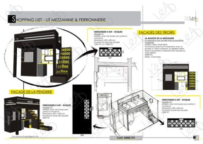 Lea-Interiors-Design-Bergerac_Amenagement-&-Decoration-Interieur-Appart-tout-en-longueur-Chambre-ado-noir-jaune-gris-Shopping-list-4