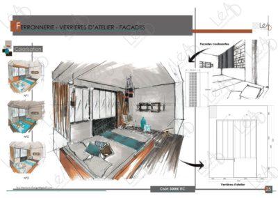 Lea-Interiors-Design-Bergerac_Amenagement-&-Decoration-Interieur-Appart-tout-en-longueur-Extrait-book-Chambre-parentale-Ferronnerie-cuivre-turquoise