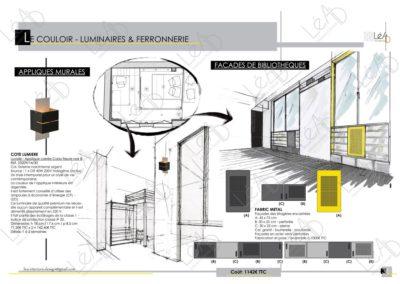 Lea-Interiors-Design-Bergerac_Amenagement-&-Decoration-Interieur-Appart-tout-en-longueur-Couloir-graphique-noir-jaune-gris-1