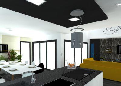 Léa Architecture Décoration Intérieur Bergerac_Pièce à vivre - moutarde - Design
