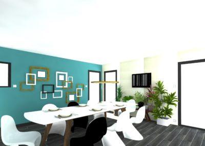Léa Architecture Décoration Intérieur Bergerac_SAM- Bleu canard - Design