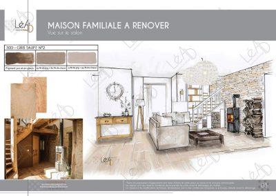Lea-Interiors-Design-Bergerac_Amenagement une maison de famille en Bretagne - Vue Piece a vivre