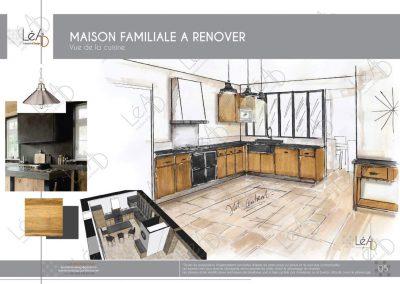 Lea-Interiors-Design-Bergerac_Amenagement une maison de famille en Bretagne - Vue cuisine