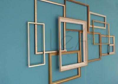 Lea-Architecture-Decoration-Interieur-Bergerac_Mur - accumulation de cadres