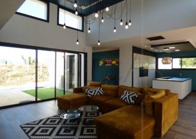 Lea-Architecture-Decoration-Interieur-Bergerac_Salon - canapé d'angle moutarde