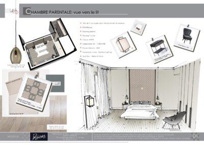 Léa Architecture Décoration Intérieur Bergerac_Agencement & Décoration - Chambre tons de beige - classique - Book 1
