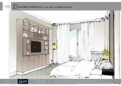 Léa Architecture Décoration Intérieur Bergerac_Agencement & Décoration - Chambre tons de beige - classique - Book 3