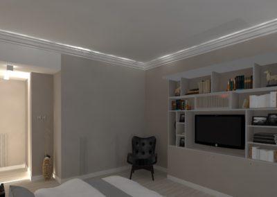 Léa Architecture Décoration Intérieur Bergerac_Agencement & Décoration - Chambre tons de beige - classique - bibliotheque - moulures