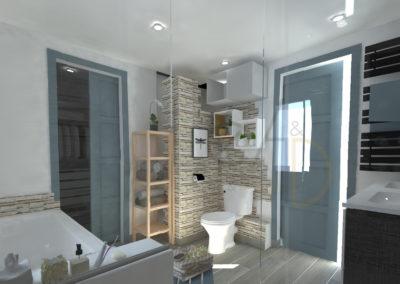 Lea-Interiors-Design-Bergerac_Amenagement-&-Decoration-interieur-3D-salle-de-bains-blanc-bleu-acier-4
