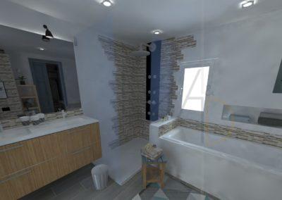 Lea-Interiors-Design-Bergerac_Amenagement-&-Decoration-interieur-3D-salle-de-bains-blanc-bleu-acier-2