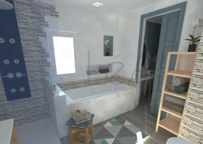 Lea-Interiors-Design-Bergerac_Amenagement-&-Decoration-interieur-3D-salle-de-bains-blanc-bleu-acier-3