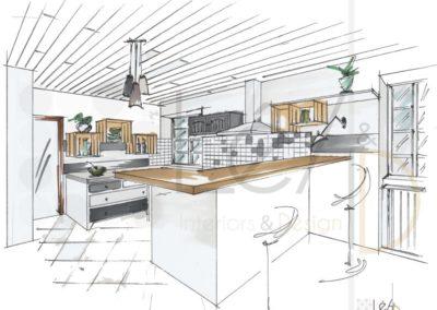 Léa Architecture Décoration Intérieur Bergerac_Rendez-vous Conseils - Cuisine relookée - version grise