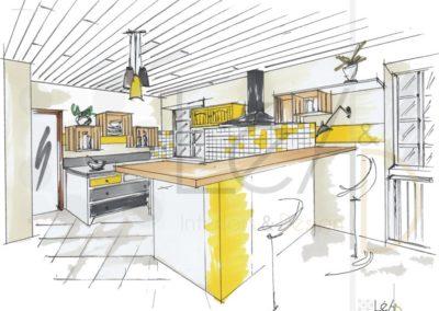 Léa Architecture Décoration Intérieur Bergerac_Rendez-vous Conseils - Cuisine relookée - version jaune
