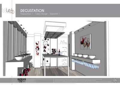 Léa Architecture Décoration Intérieur Bergerac_Espaces professionnels - Salle de dégustation - Esquisse projet - Labo design - 1