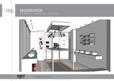 Léa Architecture Décoration Intérieur Bergerac_Espaces professionnels - Salle de dégustation - Esquisse projet - Labo design - 2
